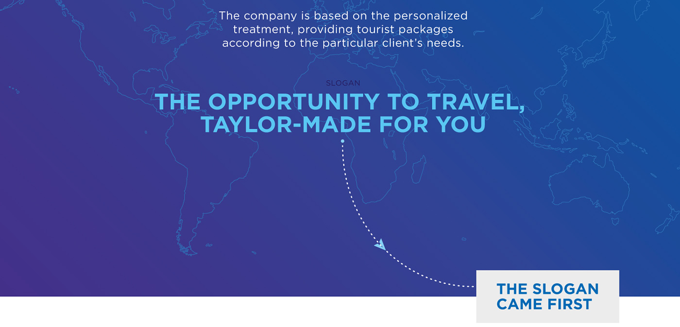 branding  naming blue Travel agency trips brand corporate concept