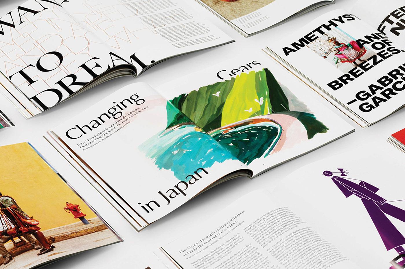 branding  magazine editorial artdirectioon Creative Direction  logo typography   Photography  Travel print