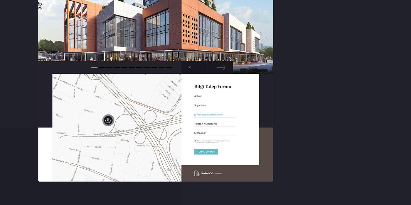 minimal ux iu Interface creative construction flat clean mobile building