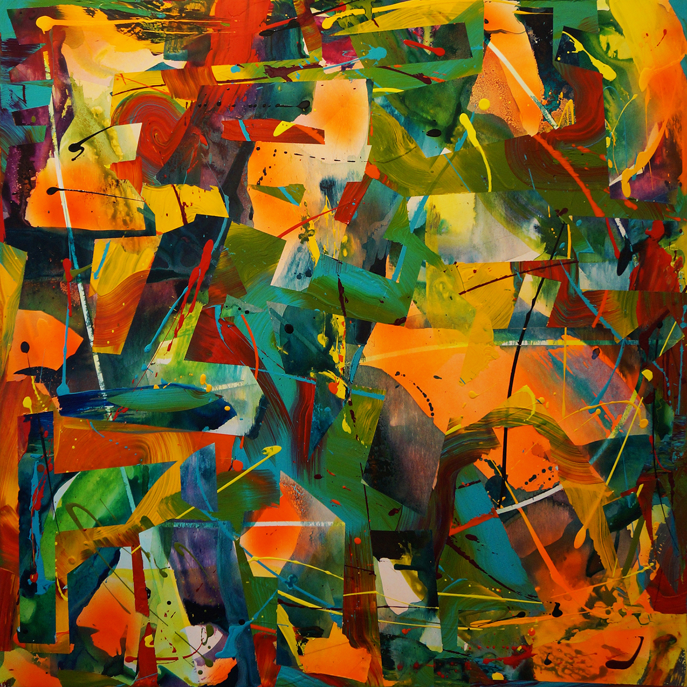 art artist Toronto Canada Canadian Urban Expression Assemblage colour bright vibrant energetic Dynamic abstract face