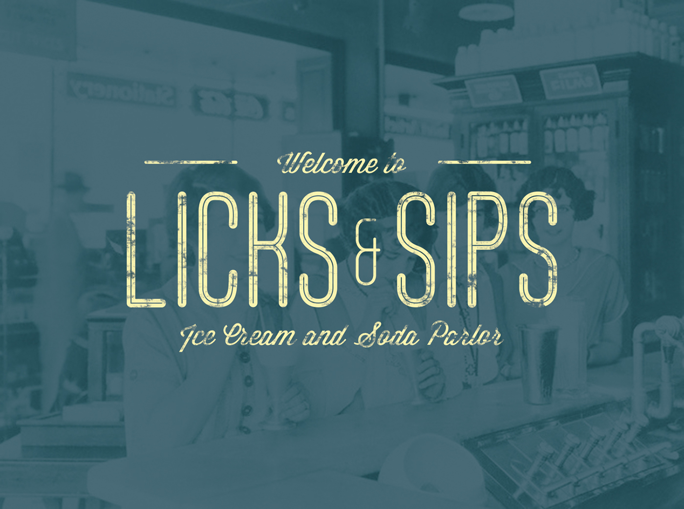 soda fountain type lettering free Typeface font vintage 1950s 50s Retro commercial personal