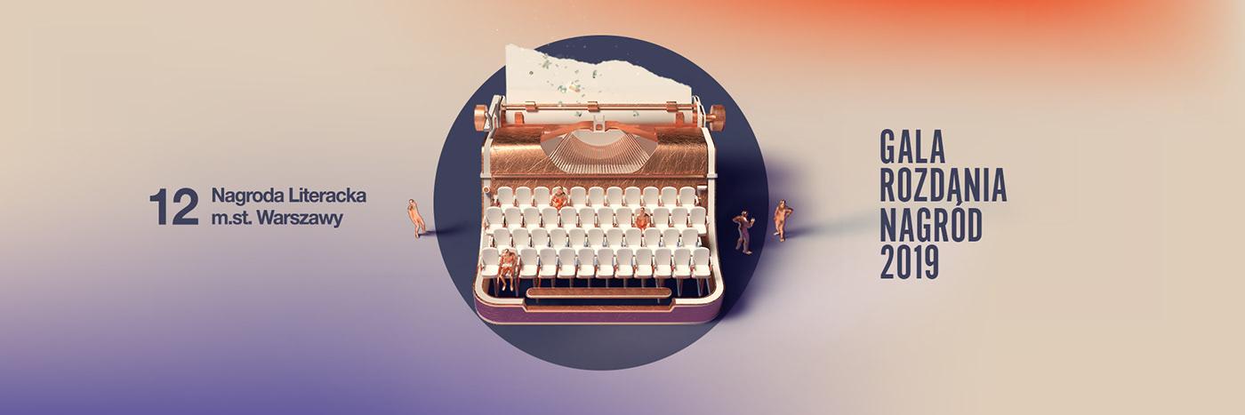 literary award,warsaw,Gala,Awards,octane,Render,typewriter