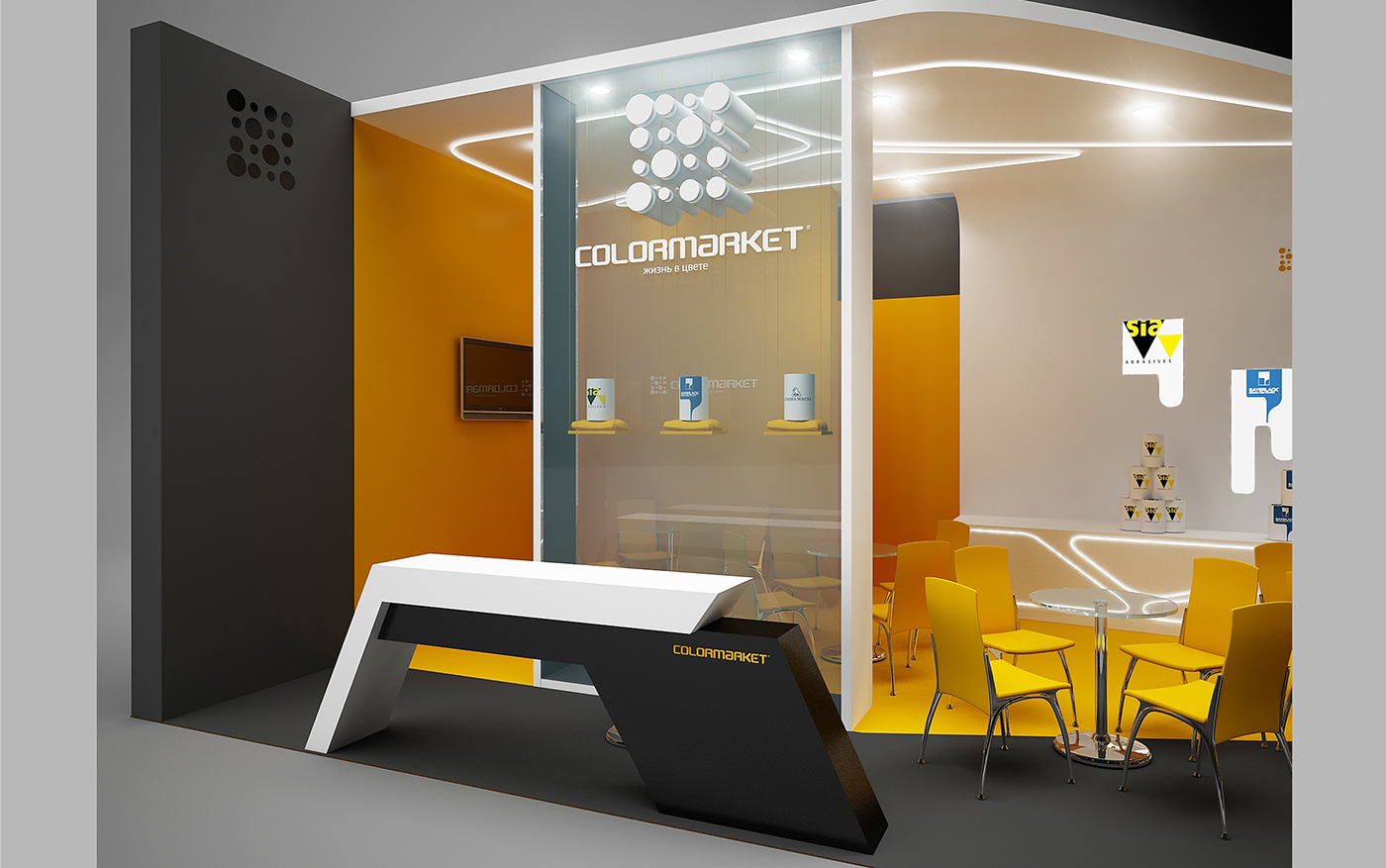 Exhibition Stand 3d Free Download : Colormarket exhibition stand on behance