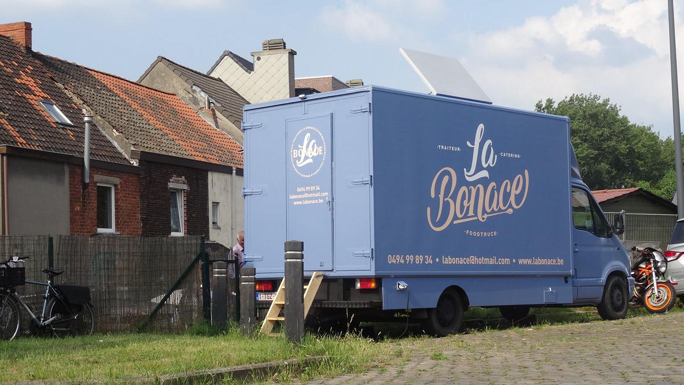 Food  foodtruck vegan belgium eat Truck france branding  lettering typography