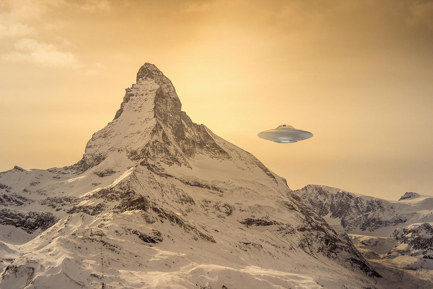 UFO passing the Matterhorn