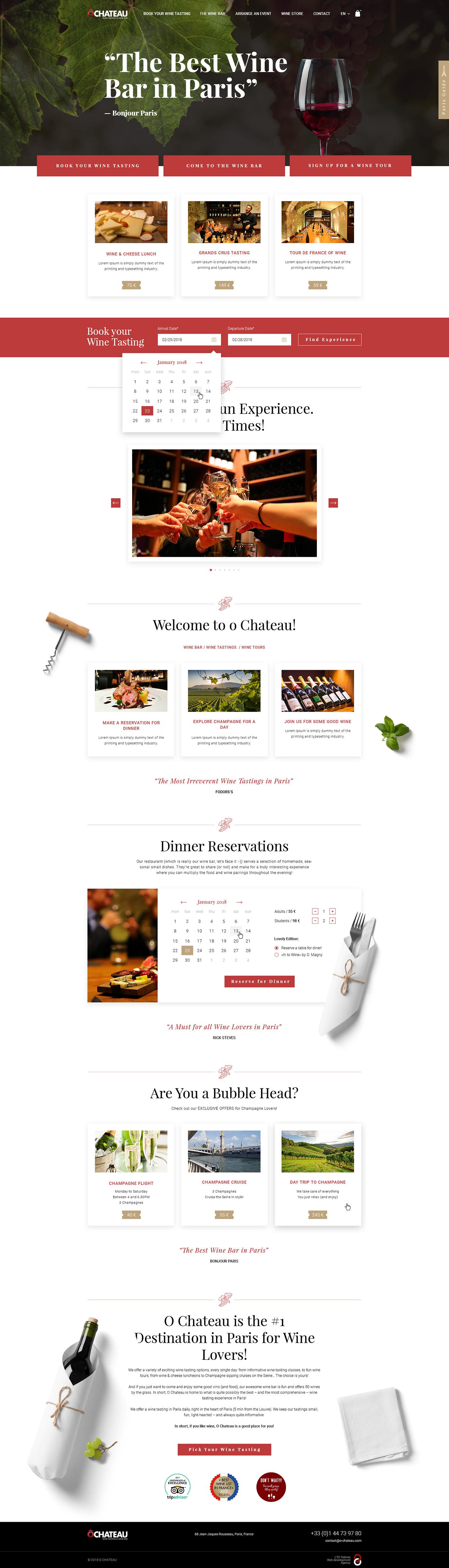 дизайн сайта вино Винный бар wine Website Webdesign Website Design UI/UX