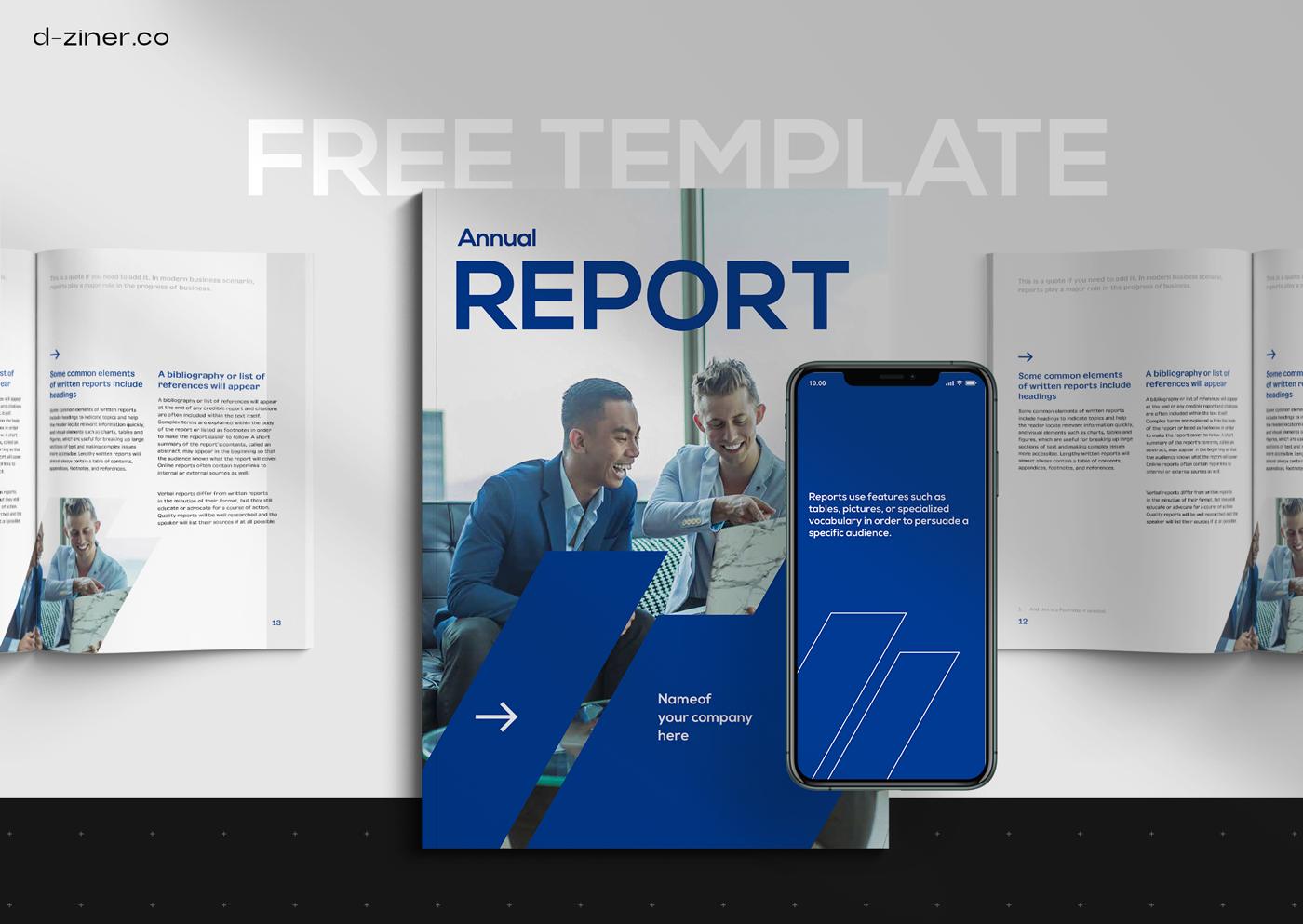 template freebie free InDesign report financial magazine pdf corporate Catalogue