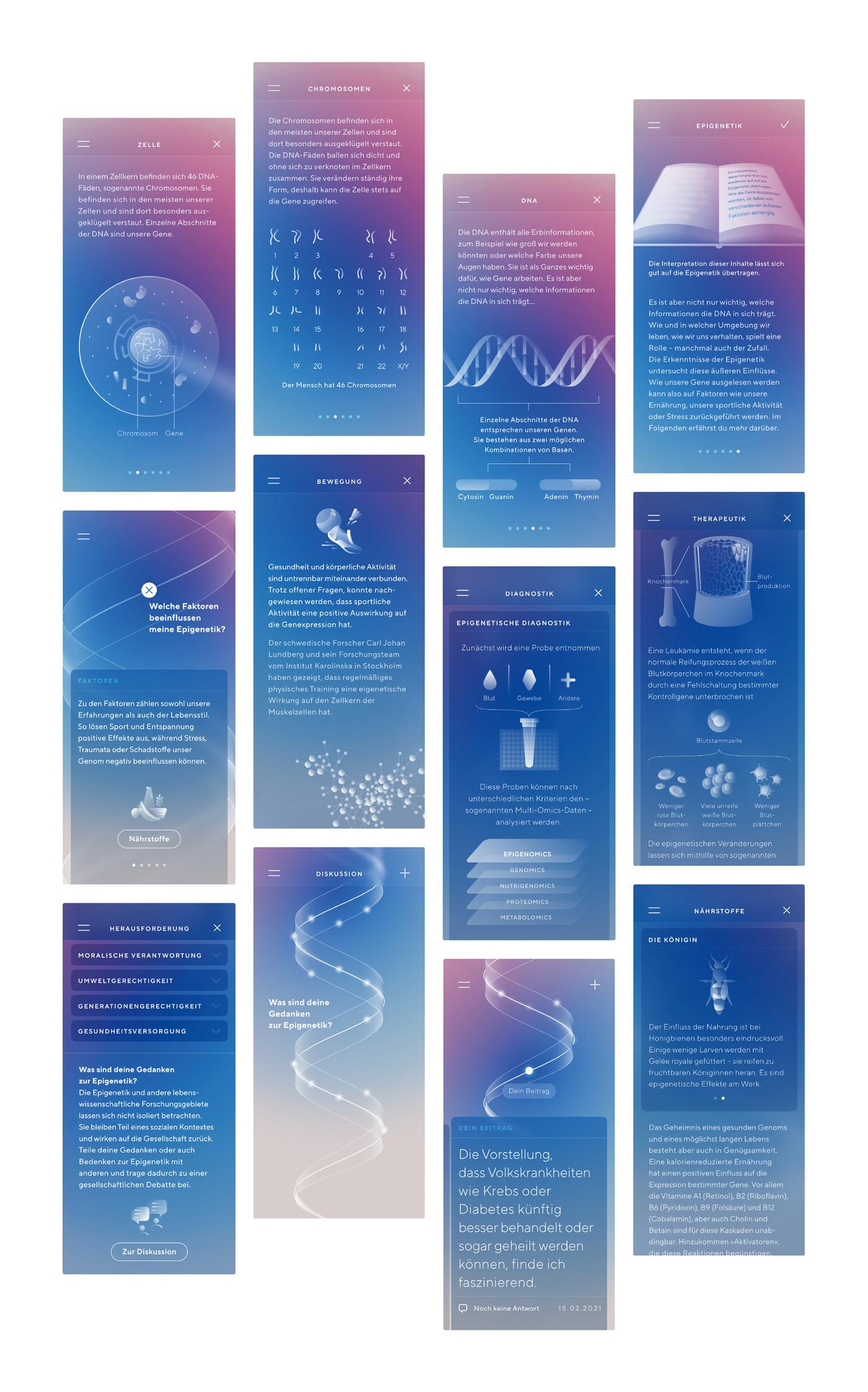 biomedicine data visualization Epigenetics future medicine genetics health care infographics Life Sciences medicine motion tracking
