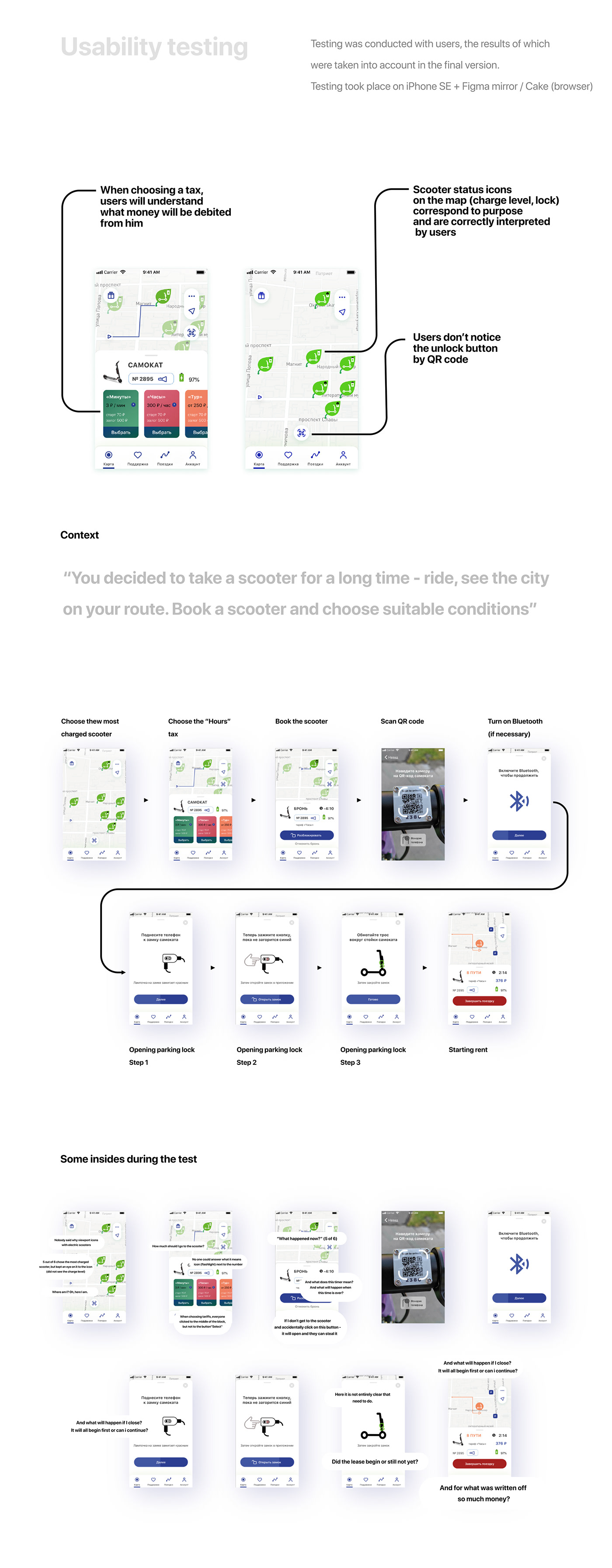 application mobile Rent Scooter sharing