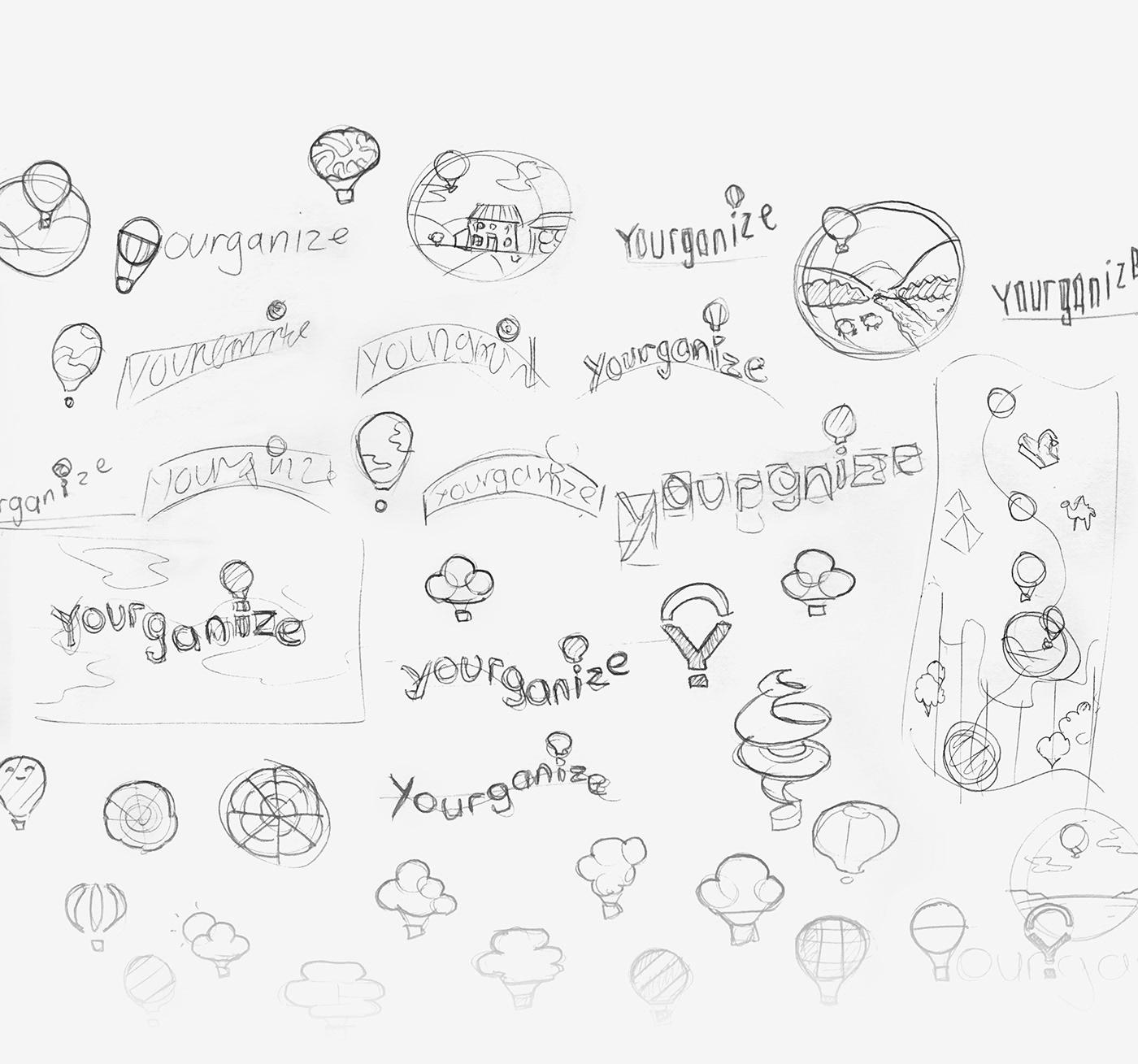 branding  logo balloon brand