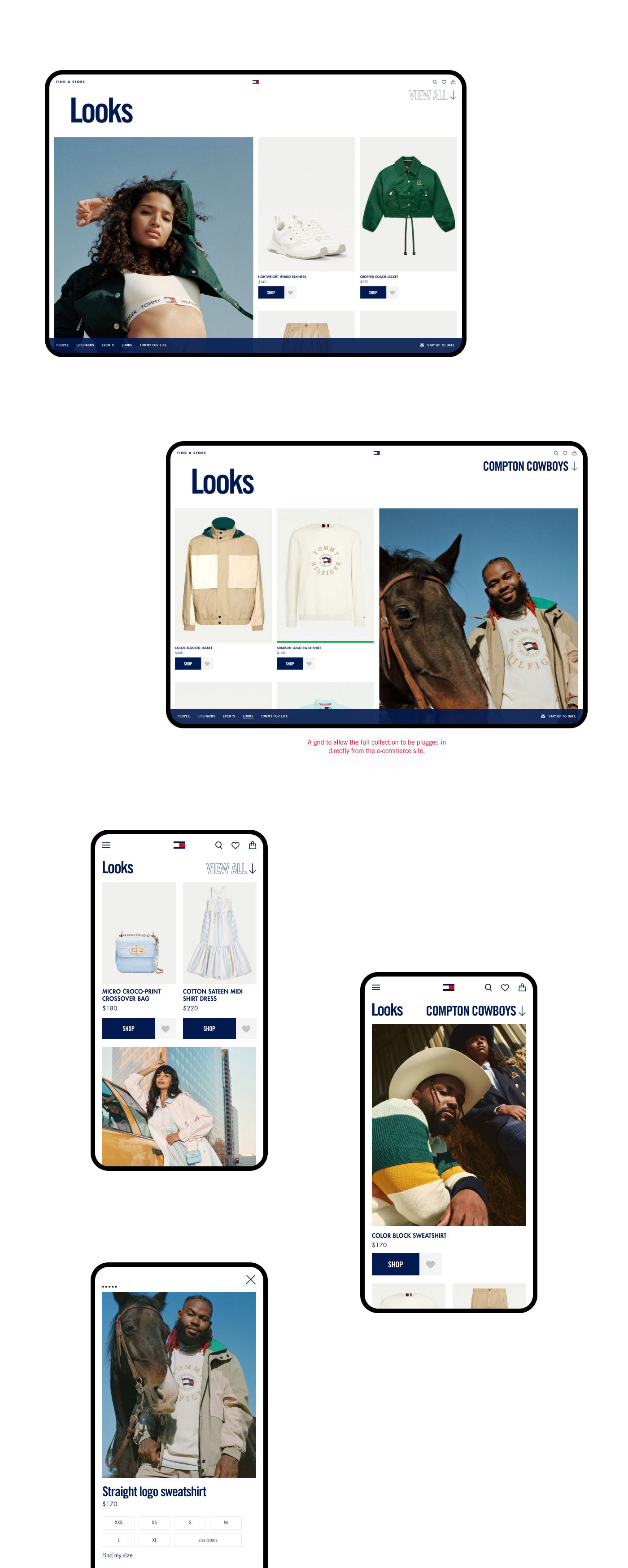 The ecommerce side of the project, featuring Indya Moore, The Compton Cowboys and Jameela Jamil.