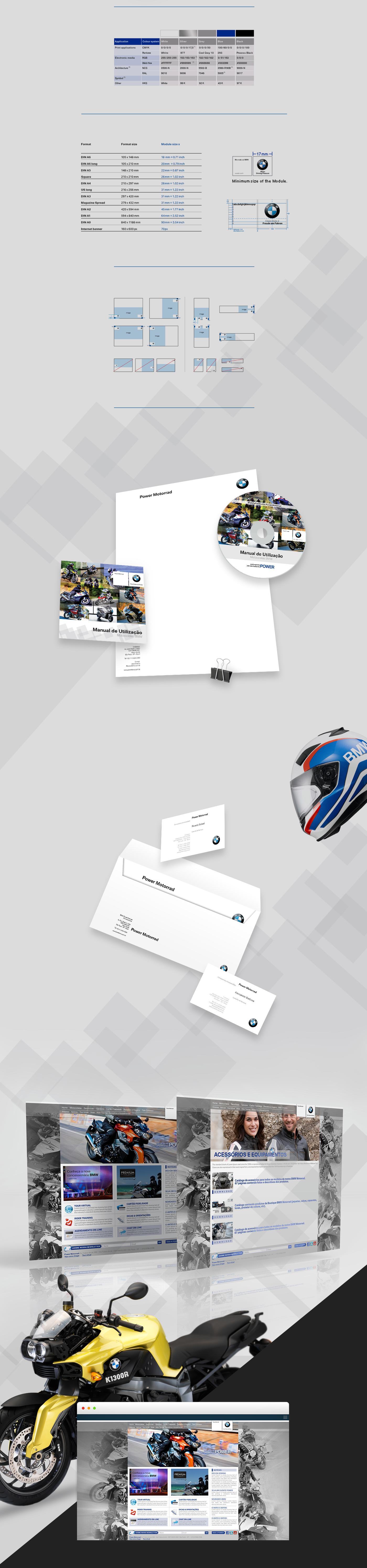 brand identity visual BMW power motorrad motorcycle branding