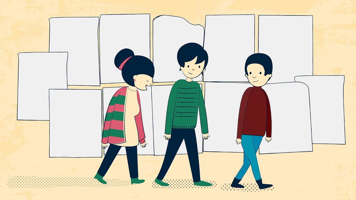 Image may contain: cartoon, clothing and drawing