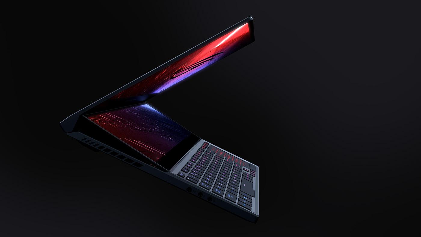 Display future HUD notebook secondary tech tech design Technology zephyrus