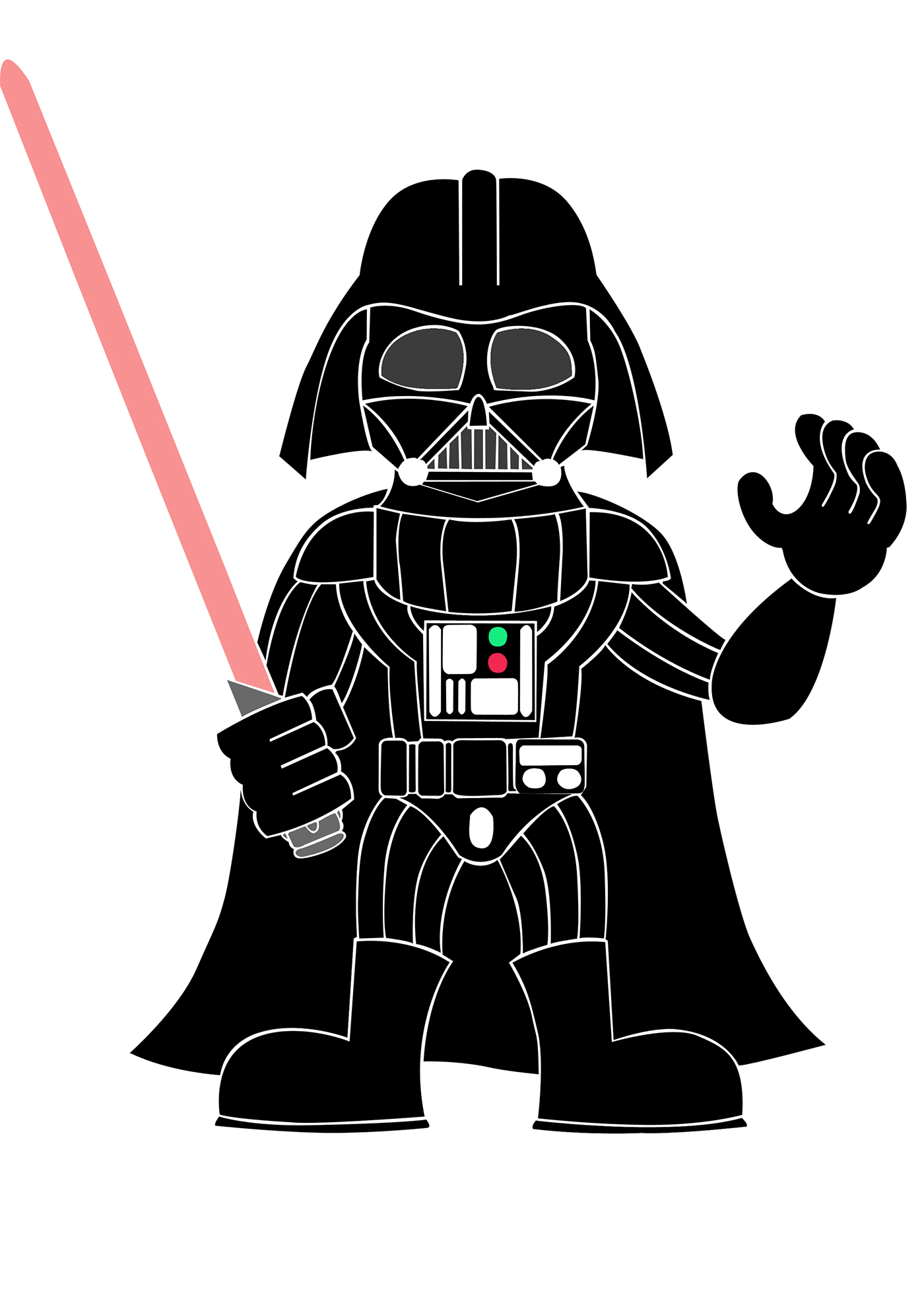 star wars cartoon on behance