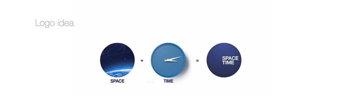 brand building concept logo presentation Space  UI ux Visual Communication Webdesign