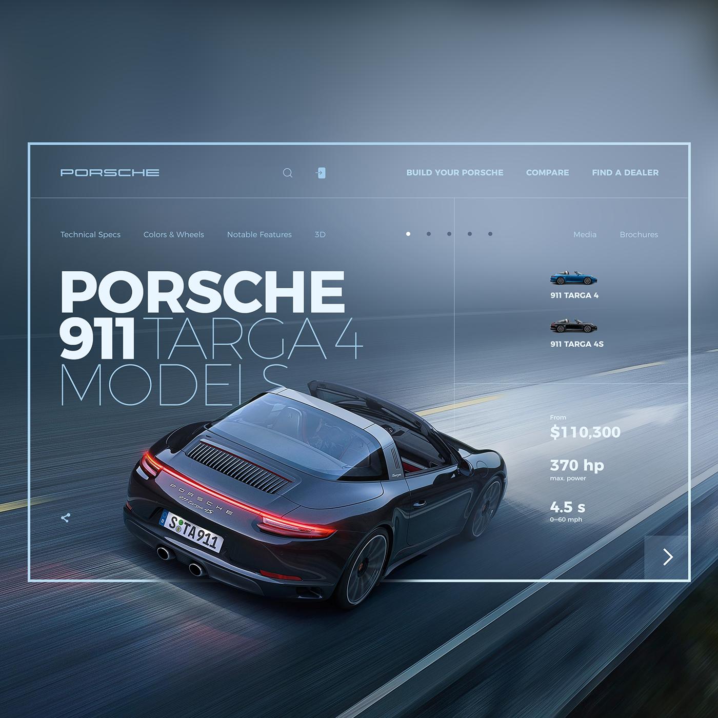 ux UI dailychallenge Kirill Pavlov kvpavlov photoshop concept Nike nirvana Porsche