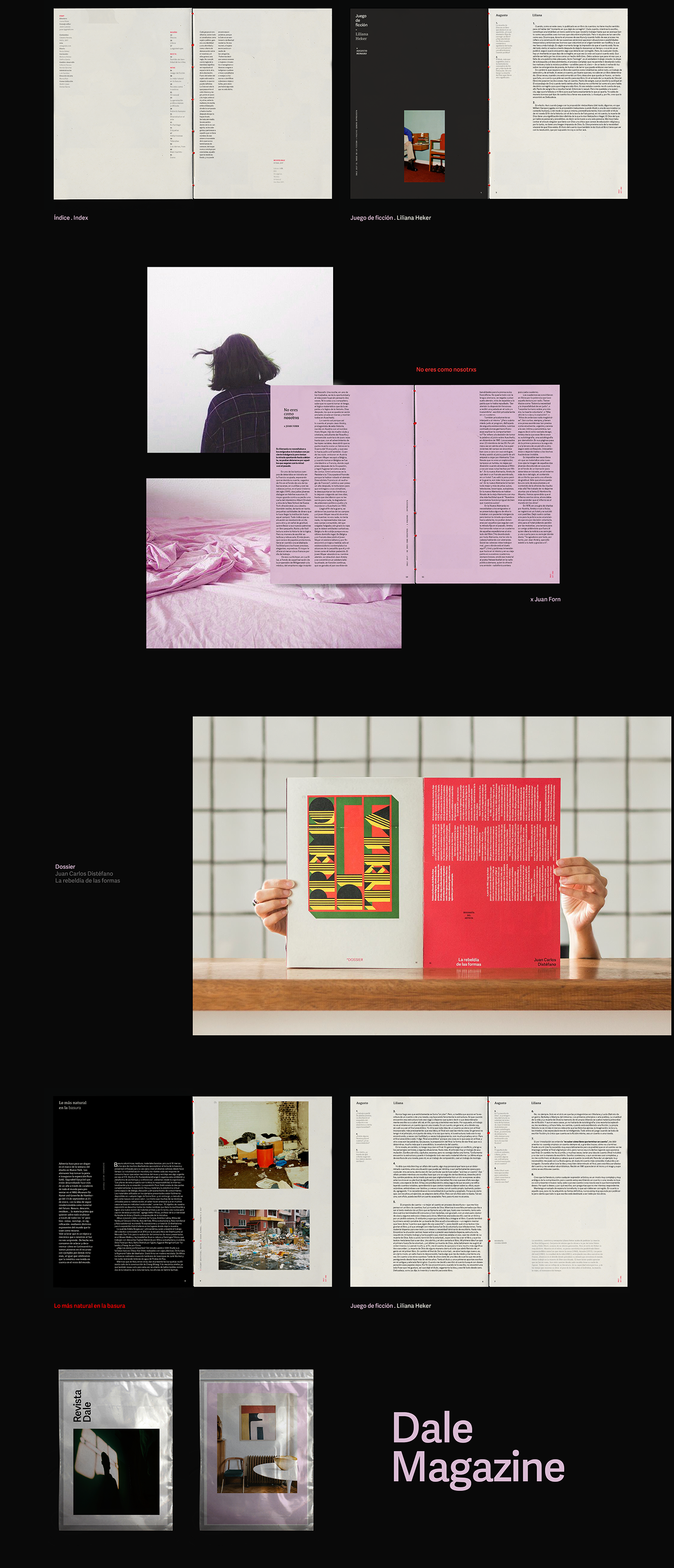 editorial Layout magazine revista dale text grid