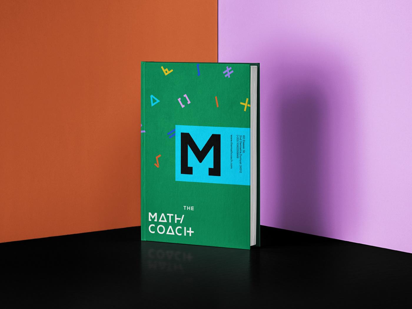 brand identity Coach courses Education logo math personal teacher branding  typography