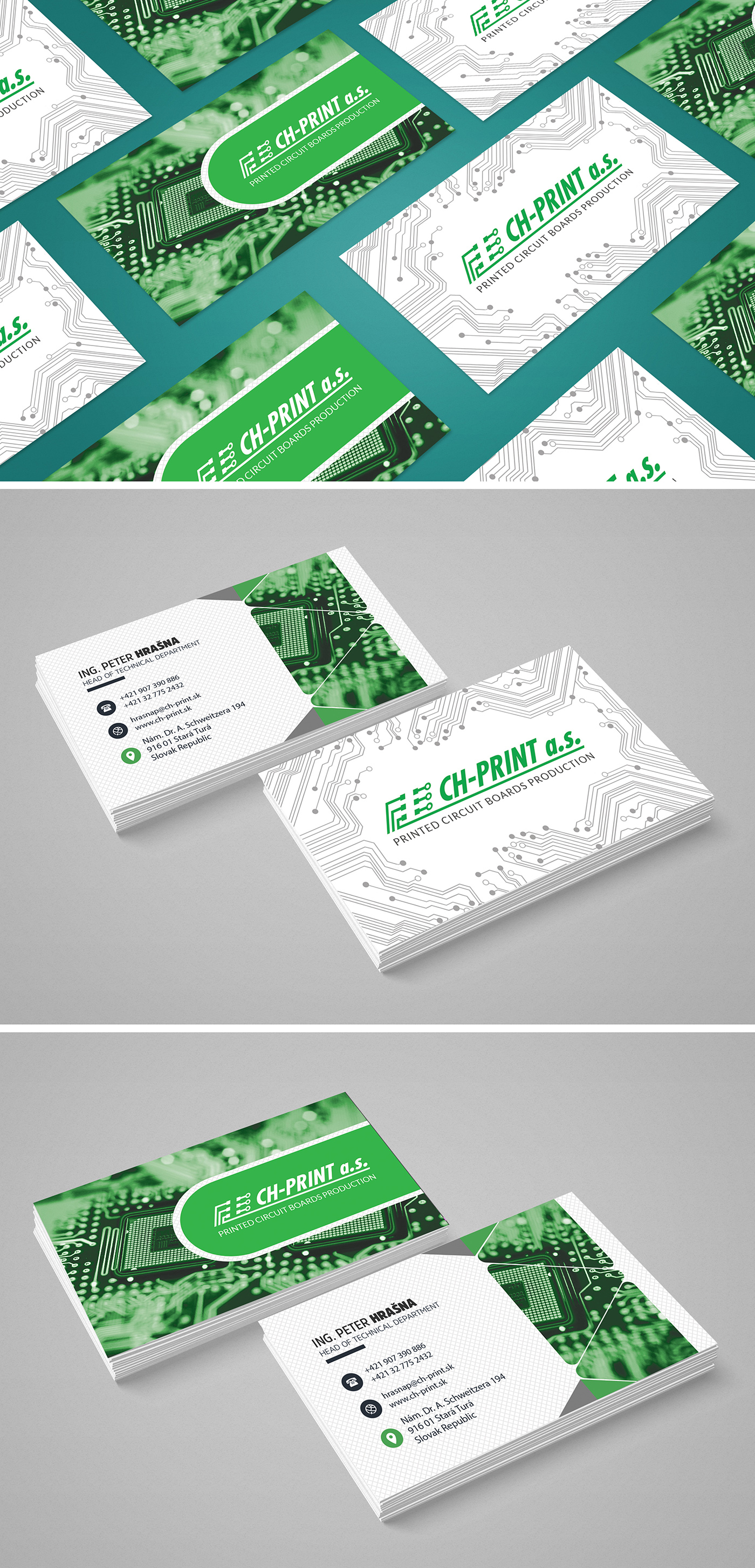 circuit boards business card