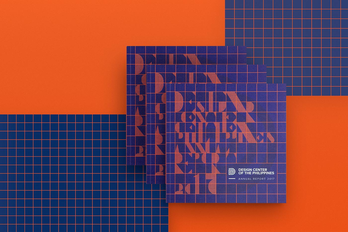 Design Center annual report grid geometric Layout design