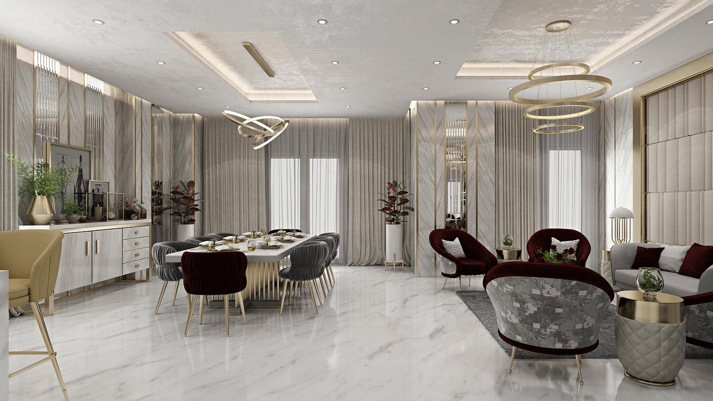 Modern Reception & Living Room, Apartment, Egypt. on Behance