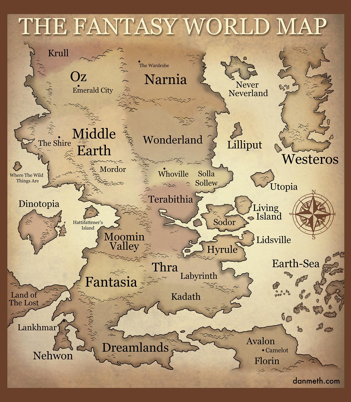 The Fantasy World Map: Multi Crossover Fantasy Map | SpaceBattles