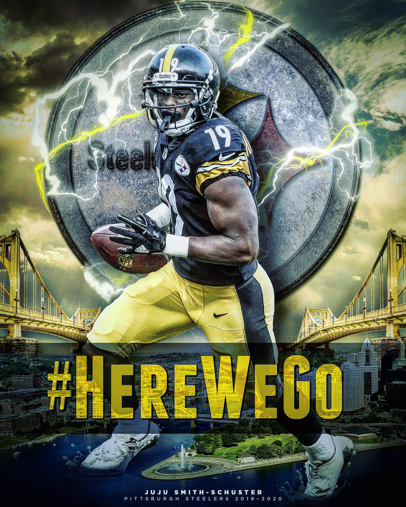 Pittsburgh steelers nfl football bridges Photo Composite juju