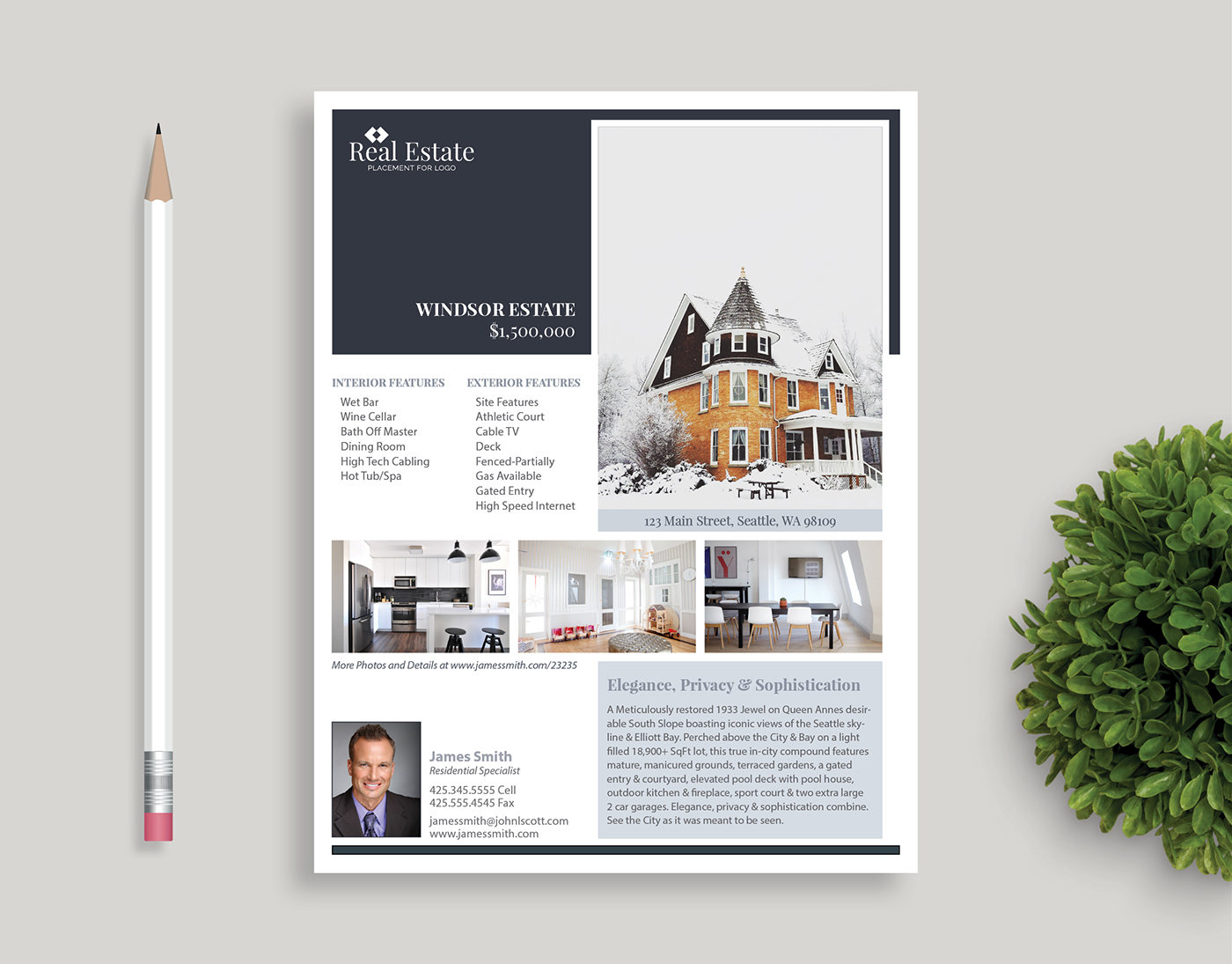 real estate flyer templates on behance