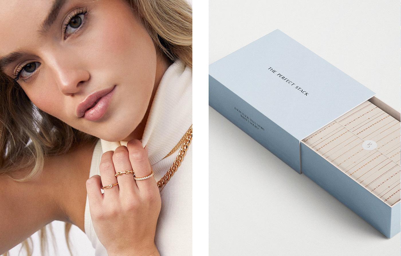branding  Fashion  feminine Jewellery jewelry lifestyle Minimalism Packaging wedding women