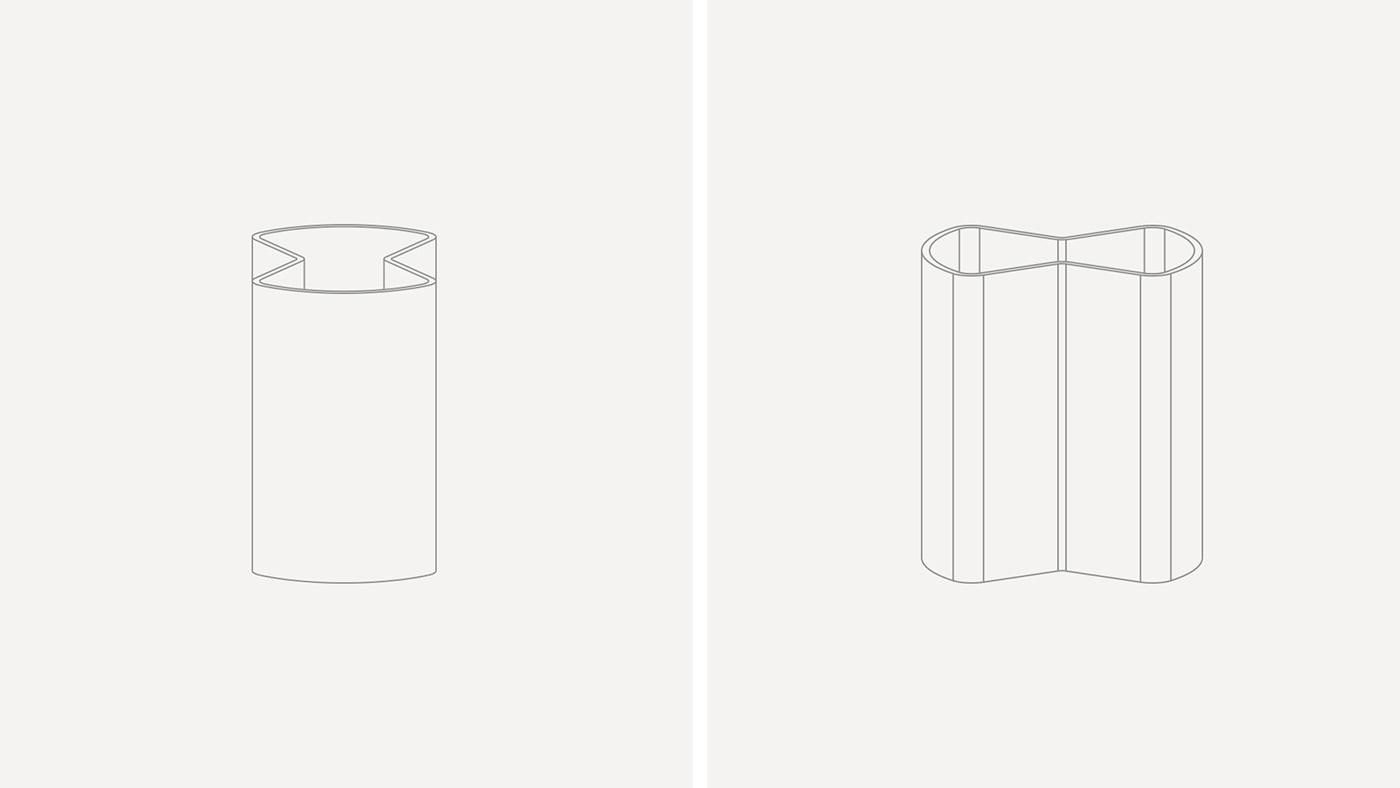 clessidra wood material product product design  industrial design  Vase penholder Aromadiffusor shape