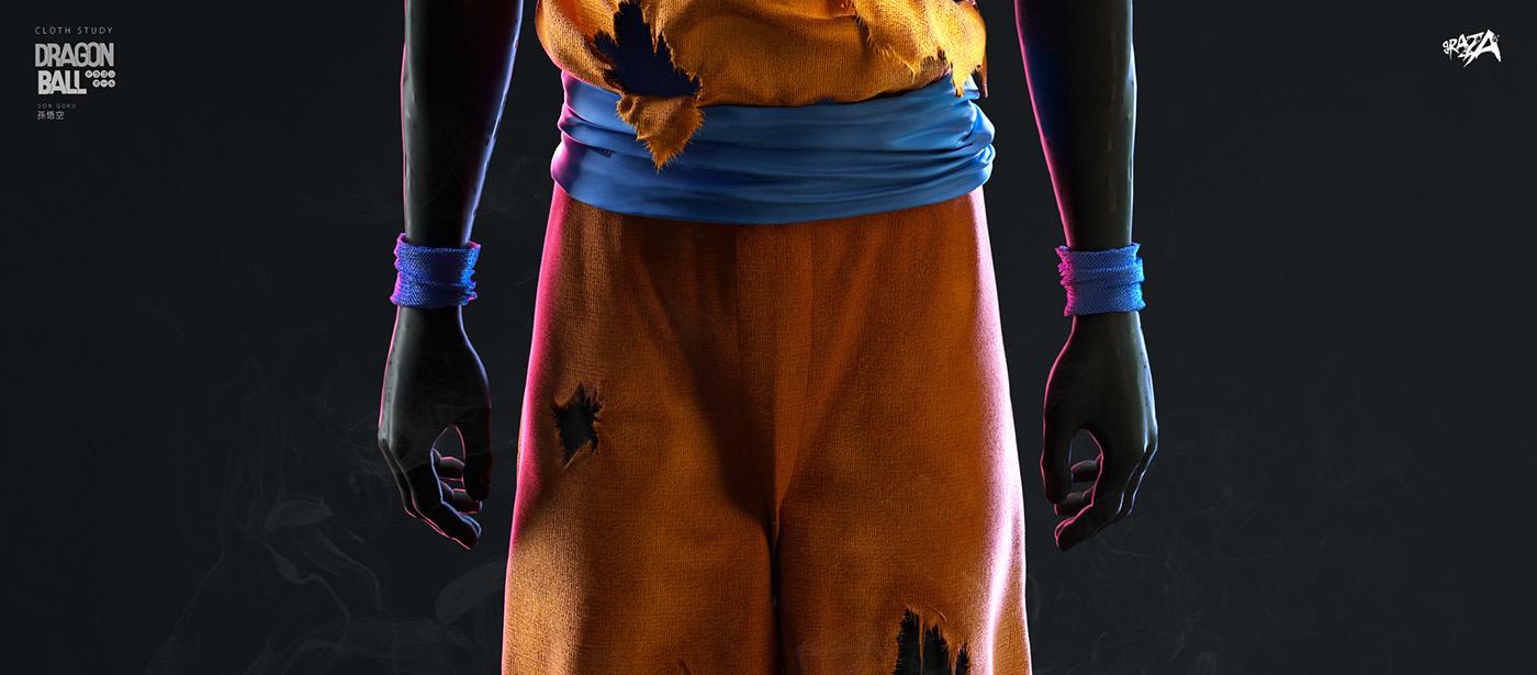 Cloth Study / Dragon Ball 32nd Anniversary on Behance