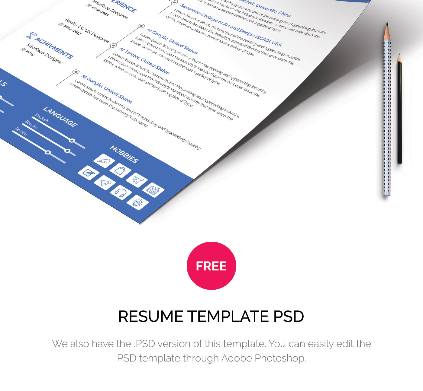 free resume template corporate on behance
