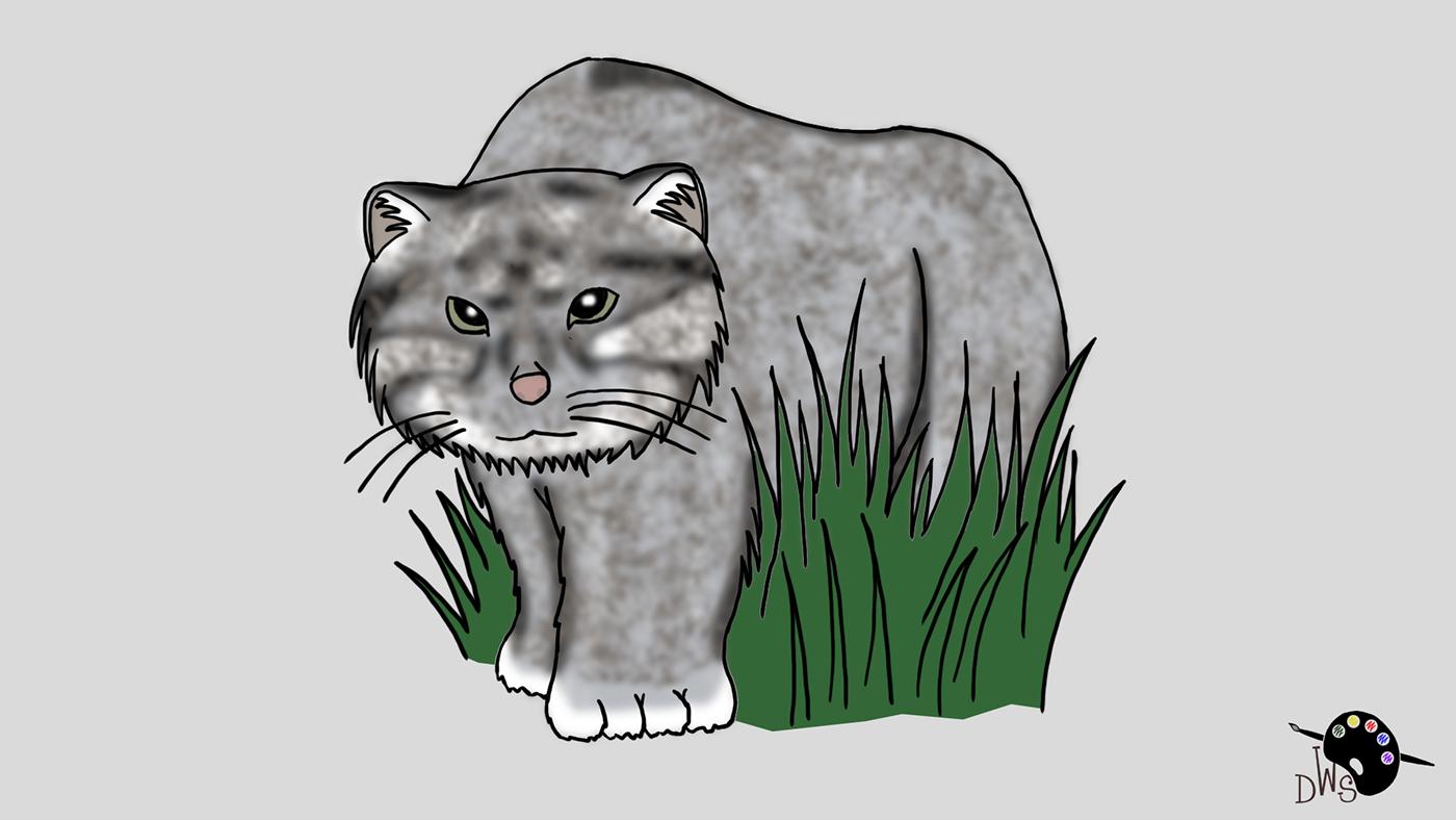 Image may contain: art, cat and cartoon