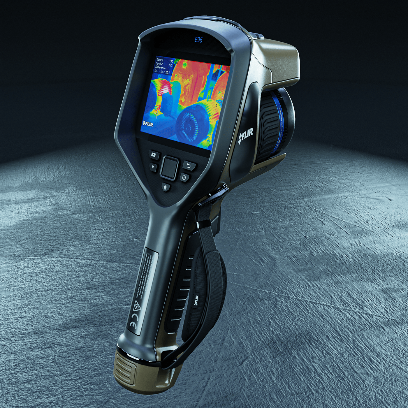 3d modeling blender camera FLIR hard surface Render Substance Painter texturing thermal