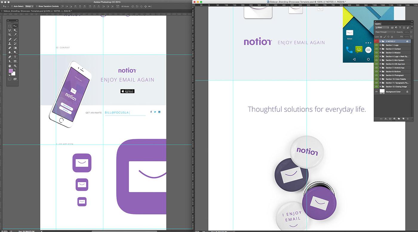 branding showcase template on behance