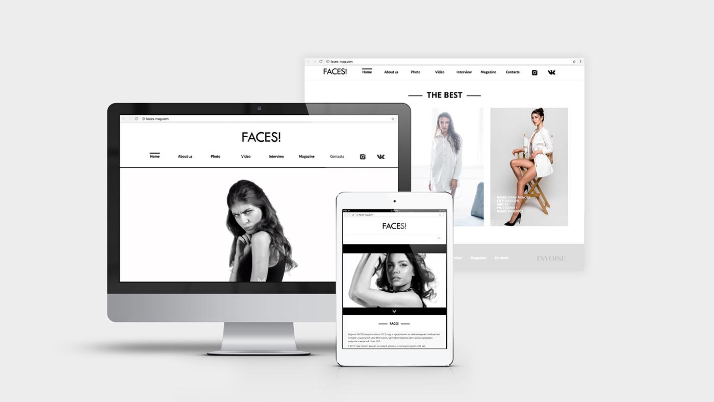 design magazine Fashion  stile photo Website site brand