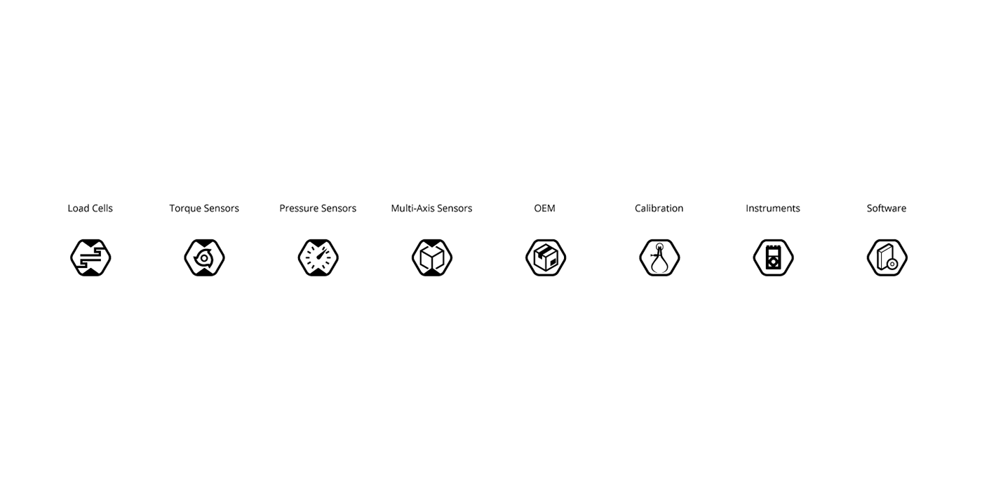 technical illustration automation Load cells icons