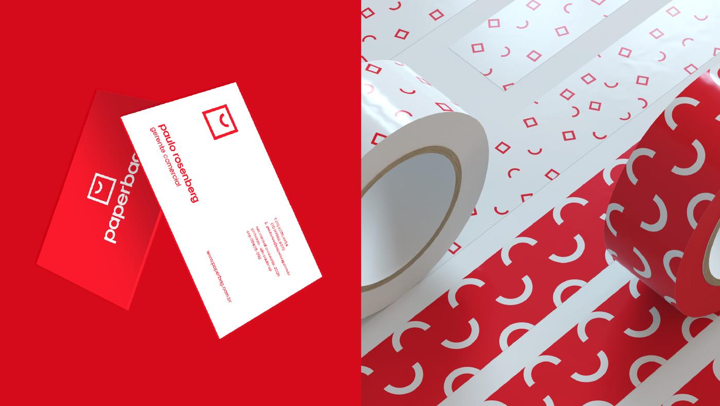 paper bag craft Packaging logo branding  Brazil red paperbag