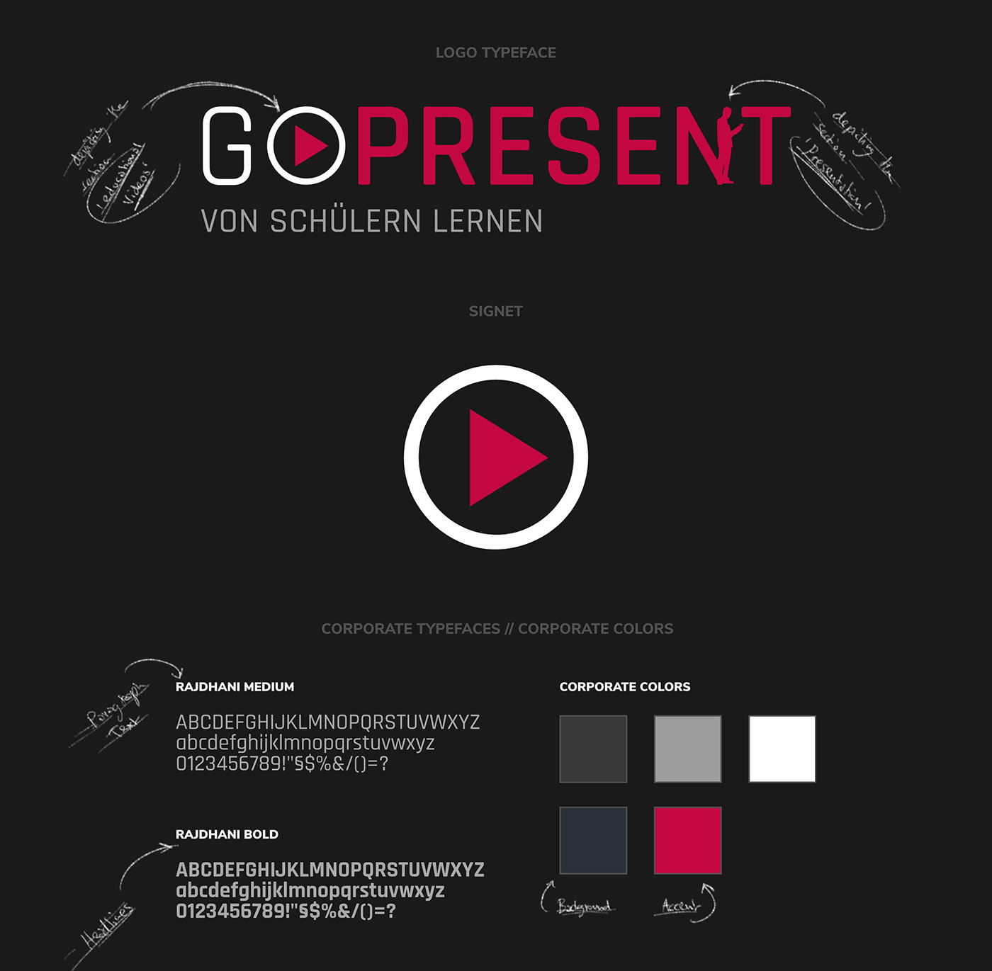 GO PRESENT // Logo + Colors + Typeface