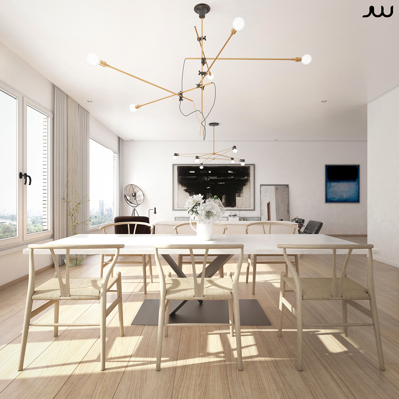 Central park view new york apartment cgi on behance for Maison moderne de luxe interieur