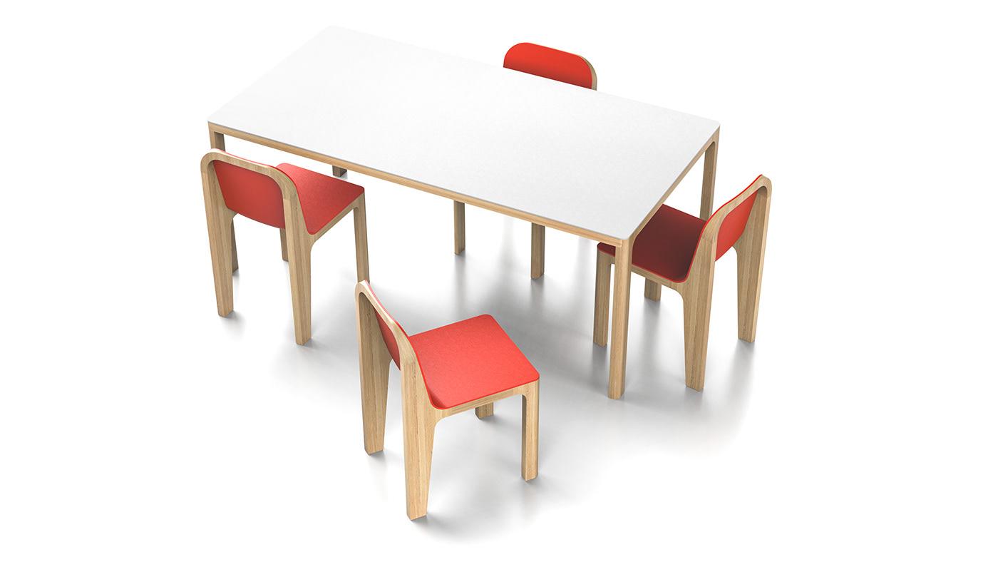 chair design industrial design  oak Scandinavian