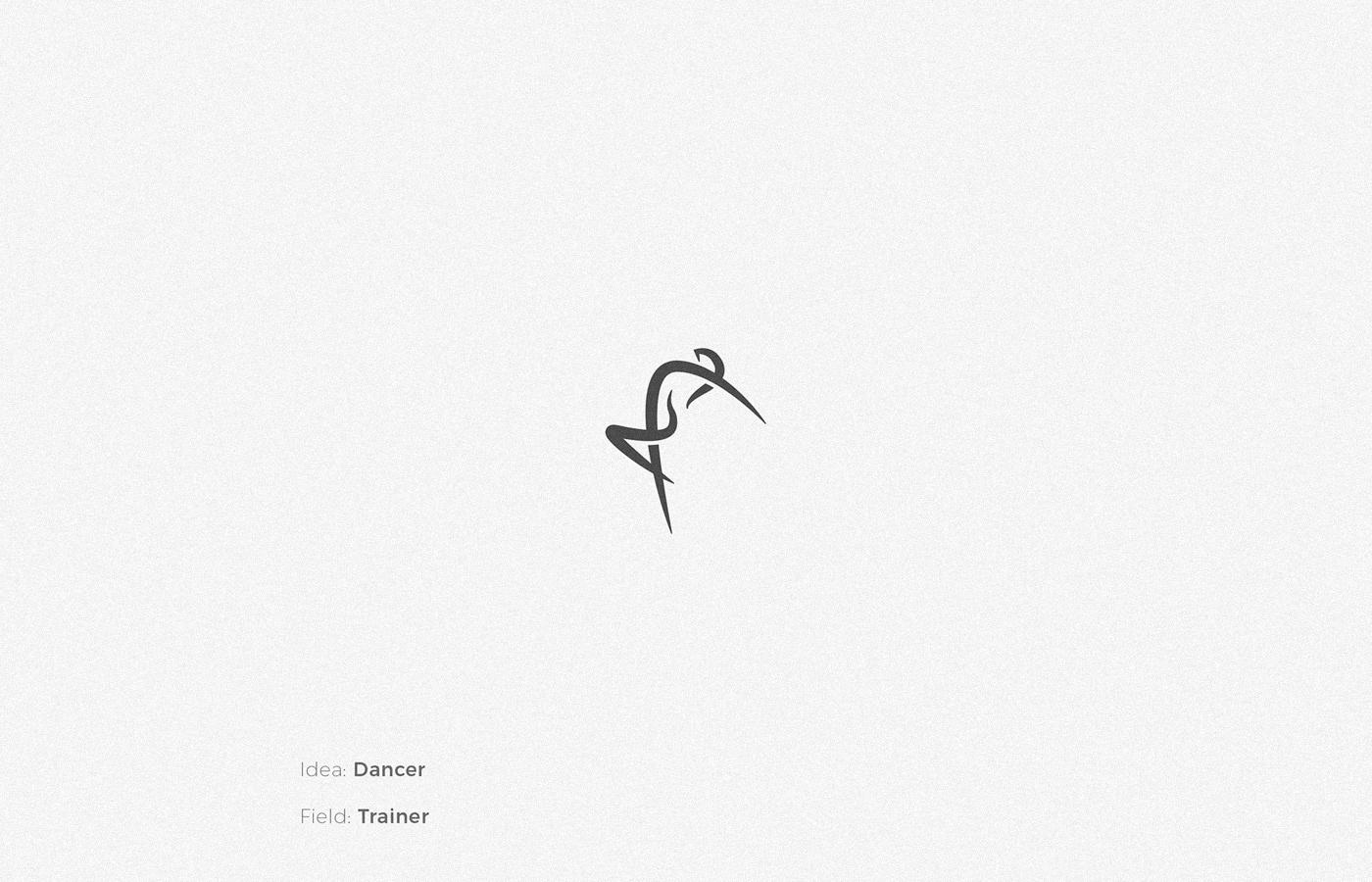 Dancer logo design by Anh Do - Anhdodes