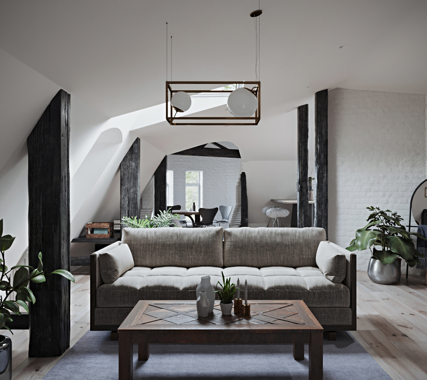 corona render  3ds max Scandinavian architecture interior design  visualisation lighting rendering