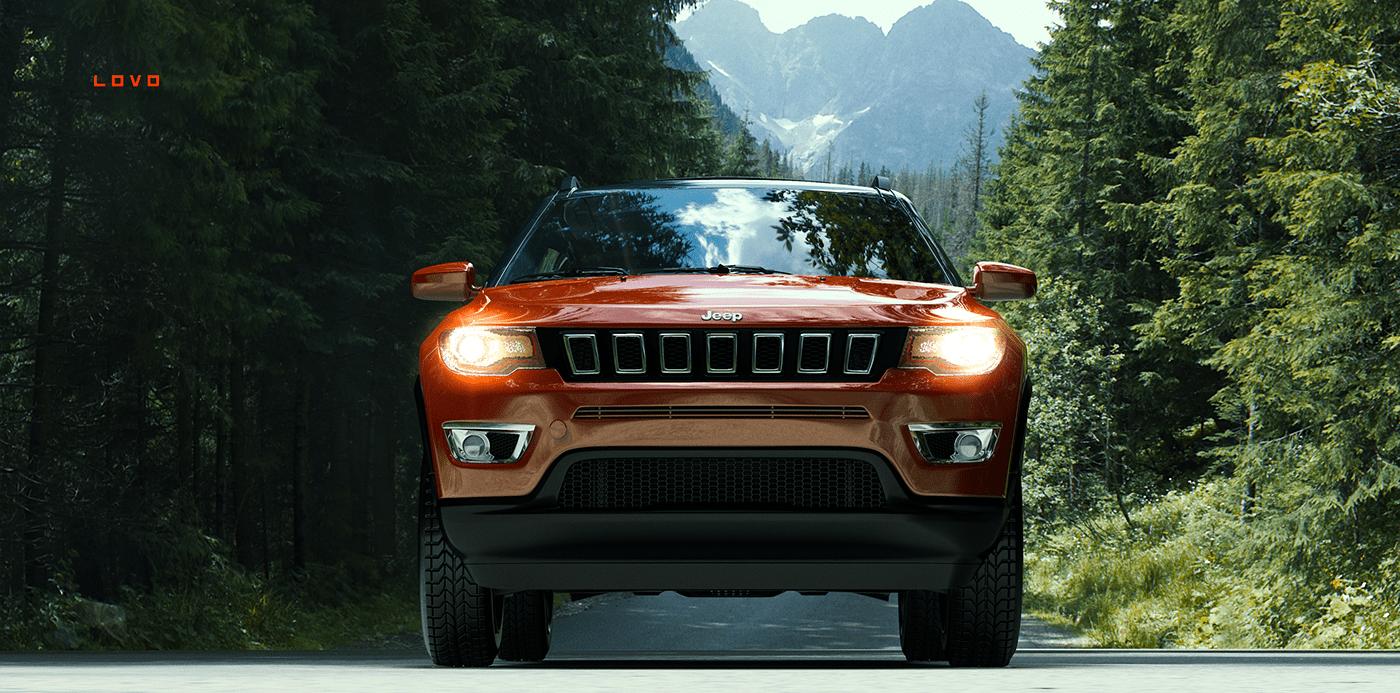 jeep compass automotive   art Render car beauty CG lovo