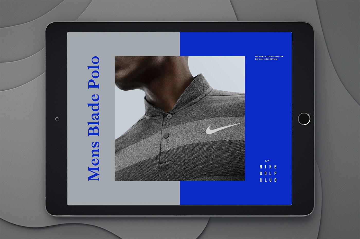 Nike nike golf rory mcilroy identity logo branding  clothes book design