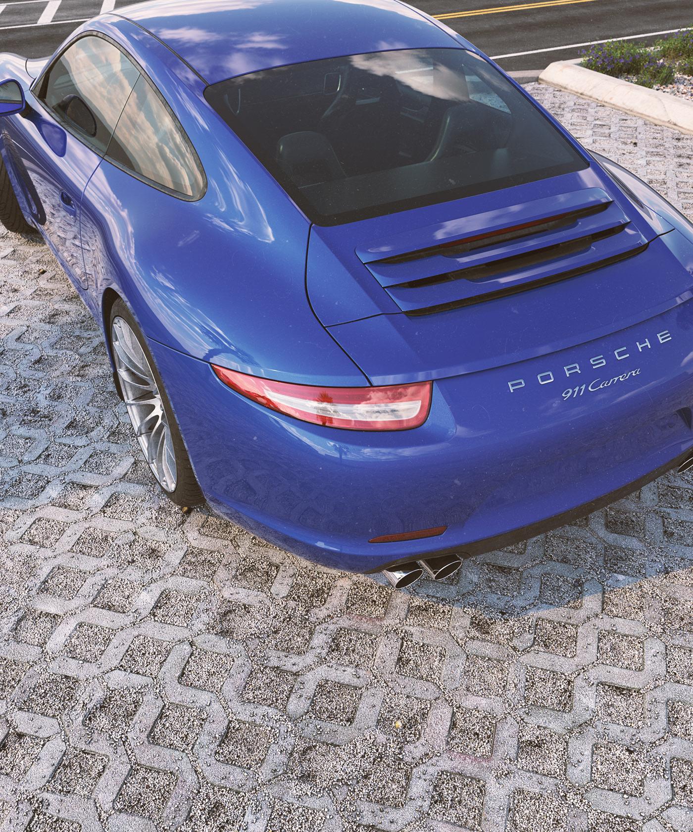 carrera Cars environment Porsche Render vray