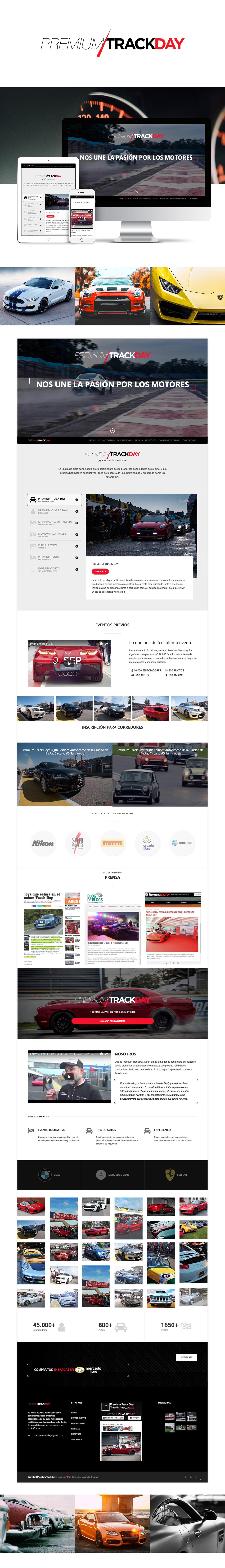 Web Respondive desgn ux Cars premium Day Event mobile diseño