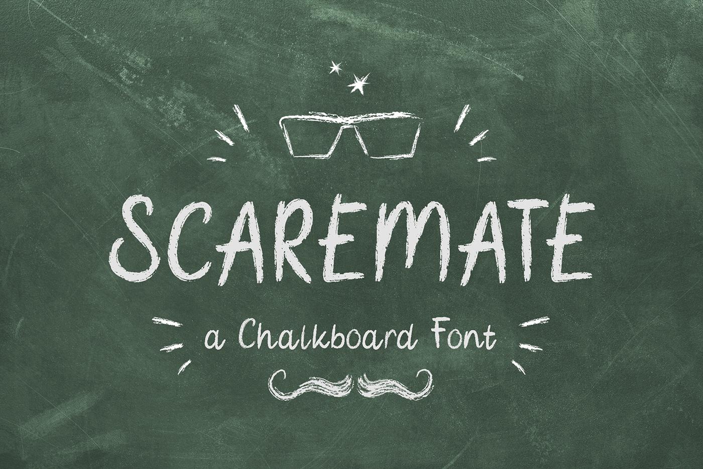 chalk font Chalkboard CLASRROM digital ads handdrawn font Marker menu Packaging school Title