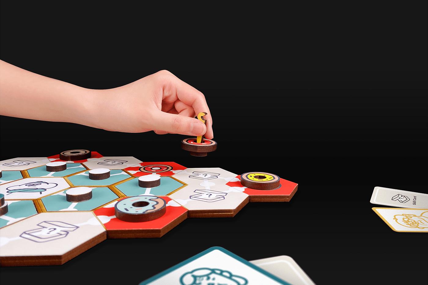 boardgame donut game design  gangs grandma play